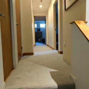 carpet with grey walls