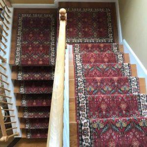 William Morris Style Stair Runner in fresh colors