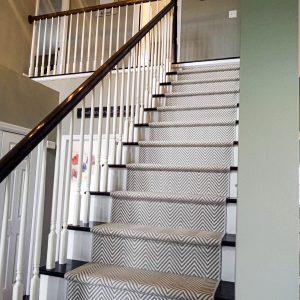 Hatteras Island - Coral Grey - Stair Runner
