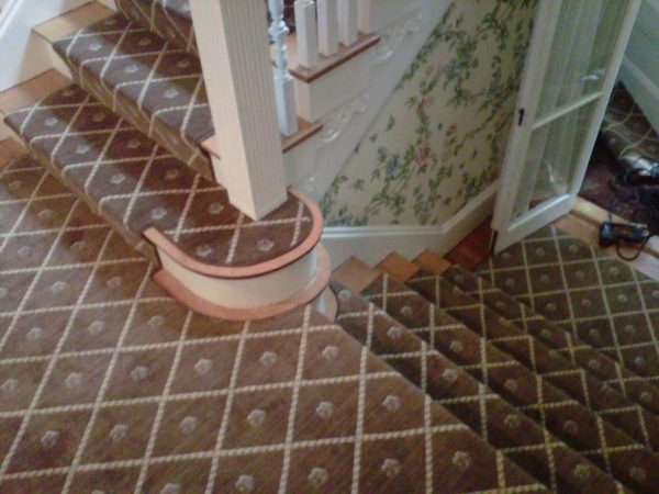 We LOVE doing custom stair runners!