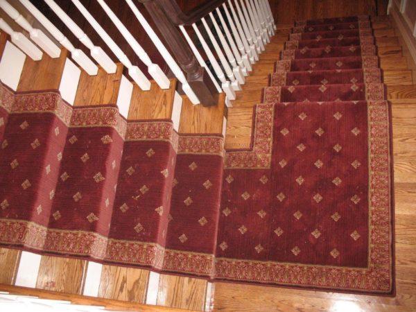 mitered corner stair runner