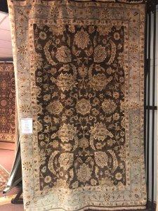 rug warehouse sale - brown and steel