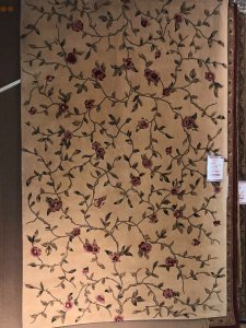 rug warehouse sale - cream and roses