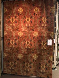 rug warehouse sale - red and yellow