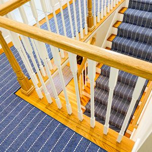Couristan - Addington - Blue - Custom Stair Runner