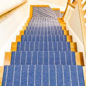 Couristan - Addington - Blue - Stair Runner