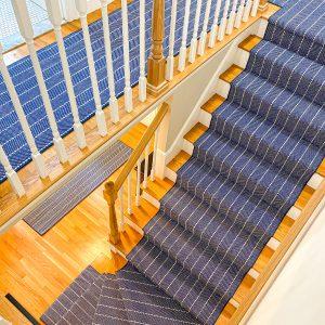Addington - Blue - Custom Stair Runner