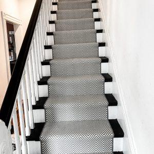 Couristan - Hatteras Island - Coral Grey - Stair Runner