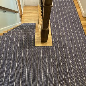 Couristan - Canterbury - Navy - Custom Stair and Hall Runner