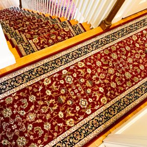 Brilliant Red Stair and Hall Runner