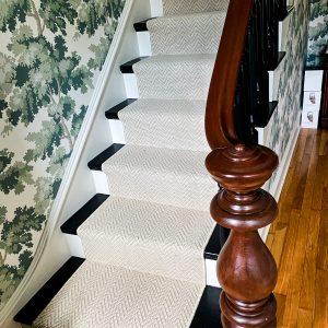Fiberworks - Cheshire - Hushed White - Stair Runner