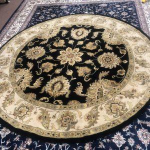 8' Round Oriental Area Rug